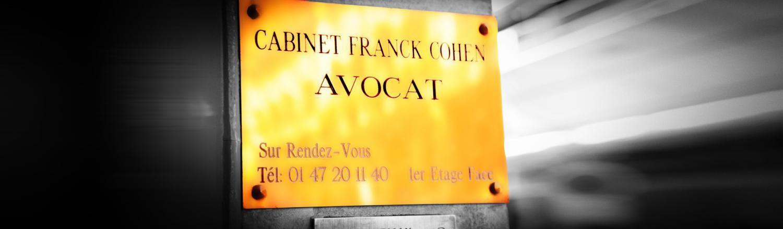 Demande de devis cabinet d'avocats Franck Cohen